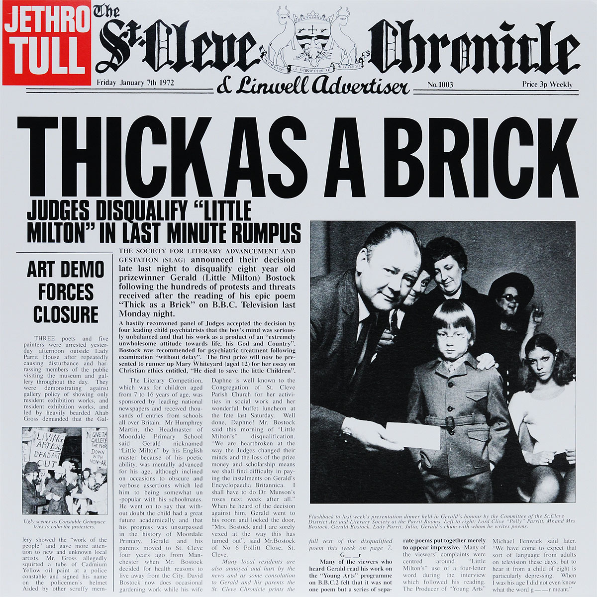 Jethro Tull Jethro Tull. Thick As A Brick (LP) jethro tull jethro tull thick as a brick