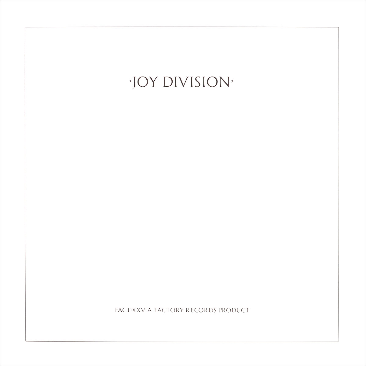 Joy Division Joy Division. Closer (LP) joy division