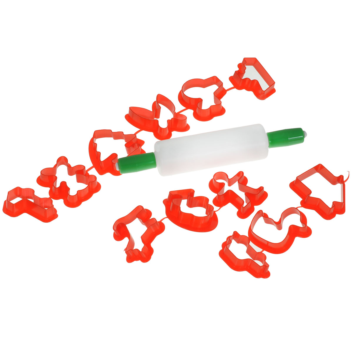 Набор для моделирования Jovi, 13 предметов7/6RxНабор для моделирования и лепки Jovi непременно понравится вашему маленькому скульптору, ведь он позволит малышу самостоятельно слепить фигурку. Это самый простой способ познакомить вашего ребенка с новым для него материалом. Просто приложите формочку к пластилину, и в руках малыша готовая фигурка. Пластилин можно раскатывать скалкой. В набор входит 12 форм и скалка в блистере. Данный набор прекрасно развивает моторику рук и пространственное мышление, а также воображение и художественный вкус. Фигурка, сделанная своими руками, будет предметом гордости малыша и обязательно станет его любимой игрушкой. Не рекомендуется детям до 3-х лет.