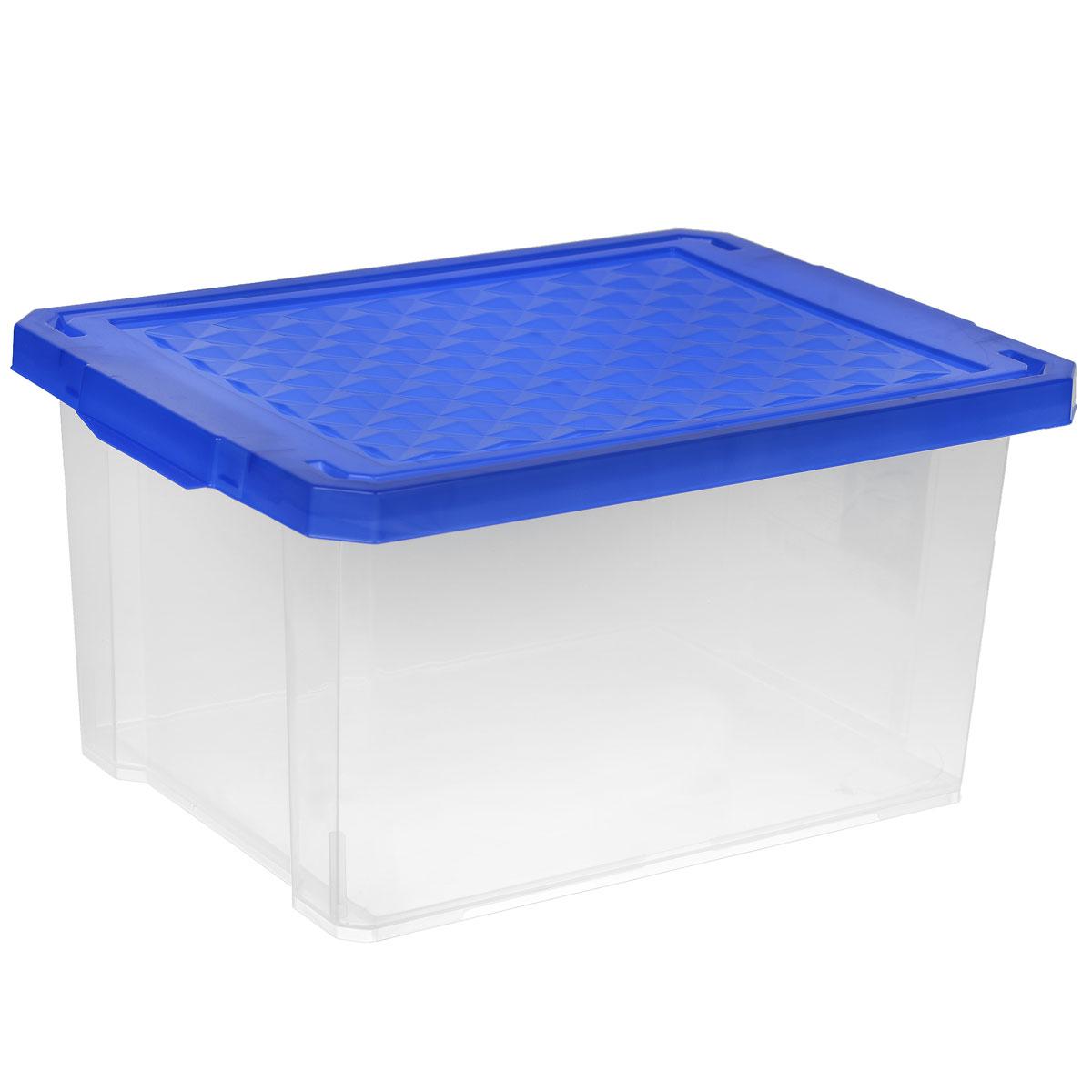 Ящик для хранения BranQ X-Box, цвет: синий, 17 лWB20-40Ящик BranQ X-Box, выполненный из прочного пластика, предназначен для хранения различных мелких вещей. Оснащен крышкой и боковыми ручками для удобства переноски. Такой ящик поможет защитить нужные вещи от пыли, грязи и влаги.