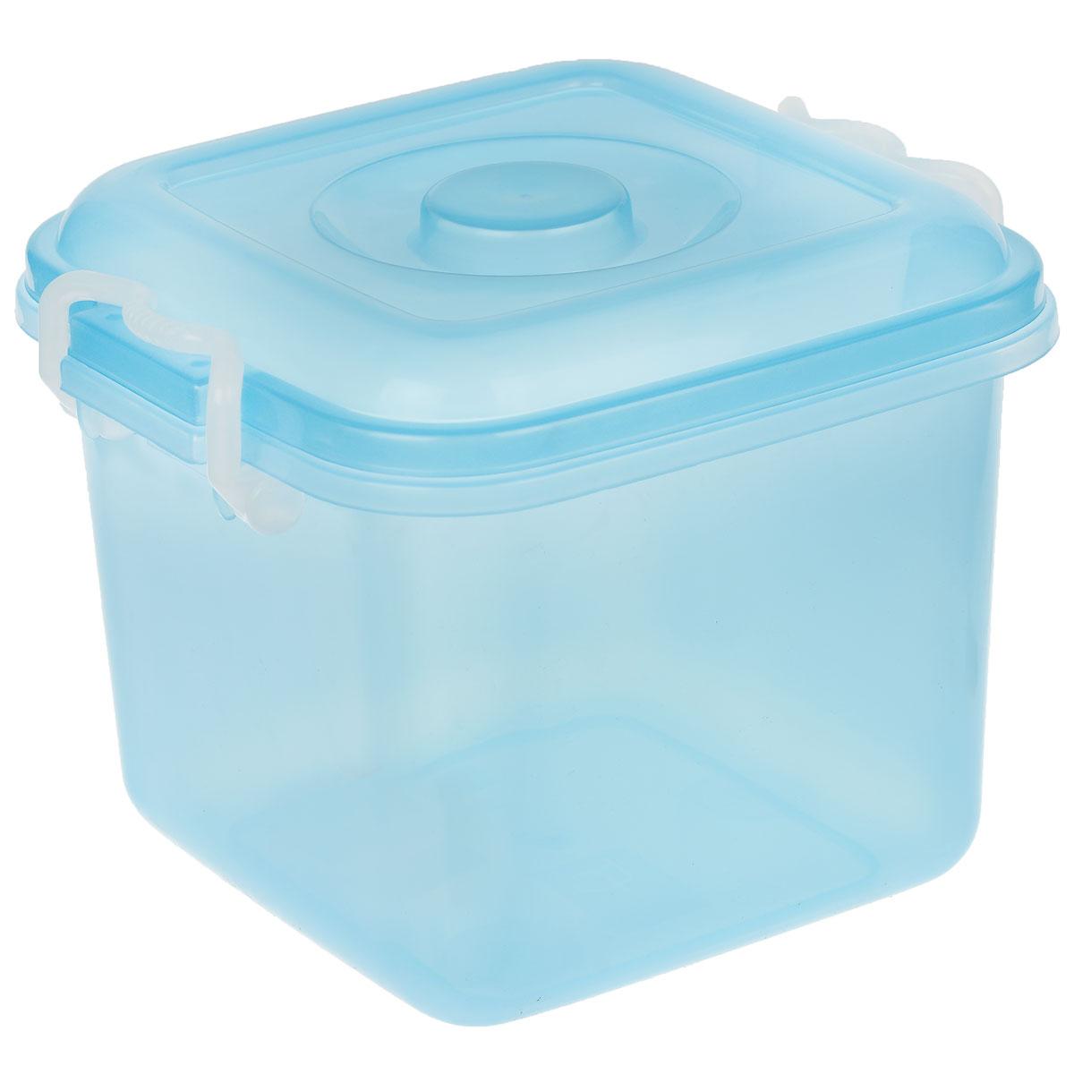 Контейнер для хранения Idea Океаник, цвет: голубой, 8 лМ 2856Контейнер Idea Океаник выполнен из пищевого пластика, предназначен для хранения различных вещей.Контейнер снабжен эргономичной плотно закрывающейся крышкой со специальными боковыми фиксаторами.