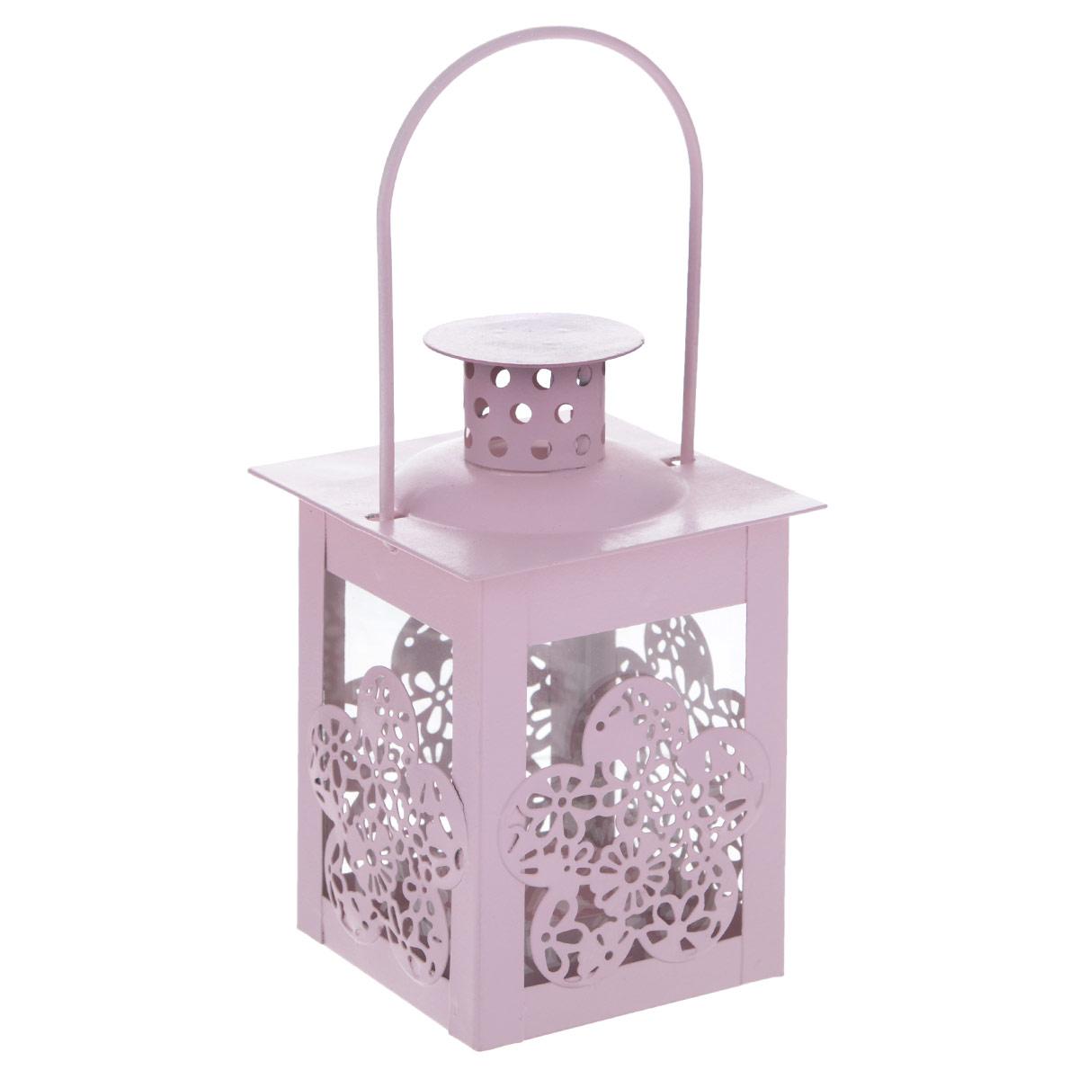 Декоративный фонарик Blossom Line Цветок, цвет: нежно-розовый, 8 х 8 х 17 см12723Декоративный фонарик Blossom Line Цветок, изготовленный из окрашенного металла, - прекрасный выбор для тех, кто хочет сделать запоминающийся подарок родным и близким. Кроме того, он может хорошо вписаться в интерьер вашего дома или дачи. Изделие можно декорировать разными материалами и сделать оригинальную композицию. Фонарик Blossom Line Цветок оснащен открывающейся крышкой и металлической ручкой для подвешивания на крючок.