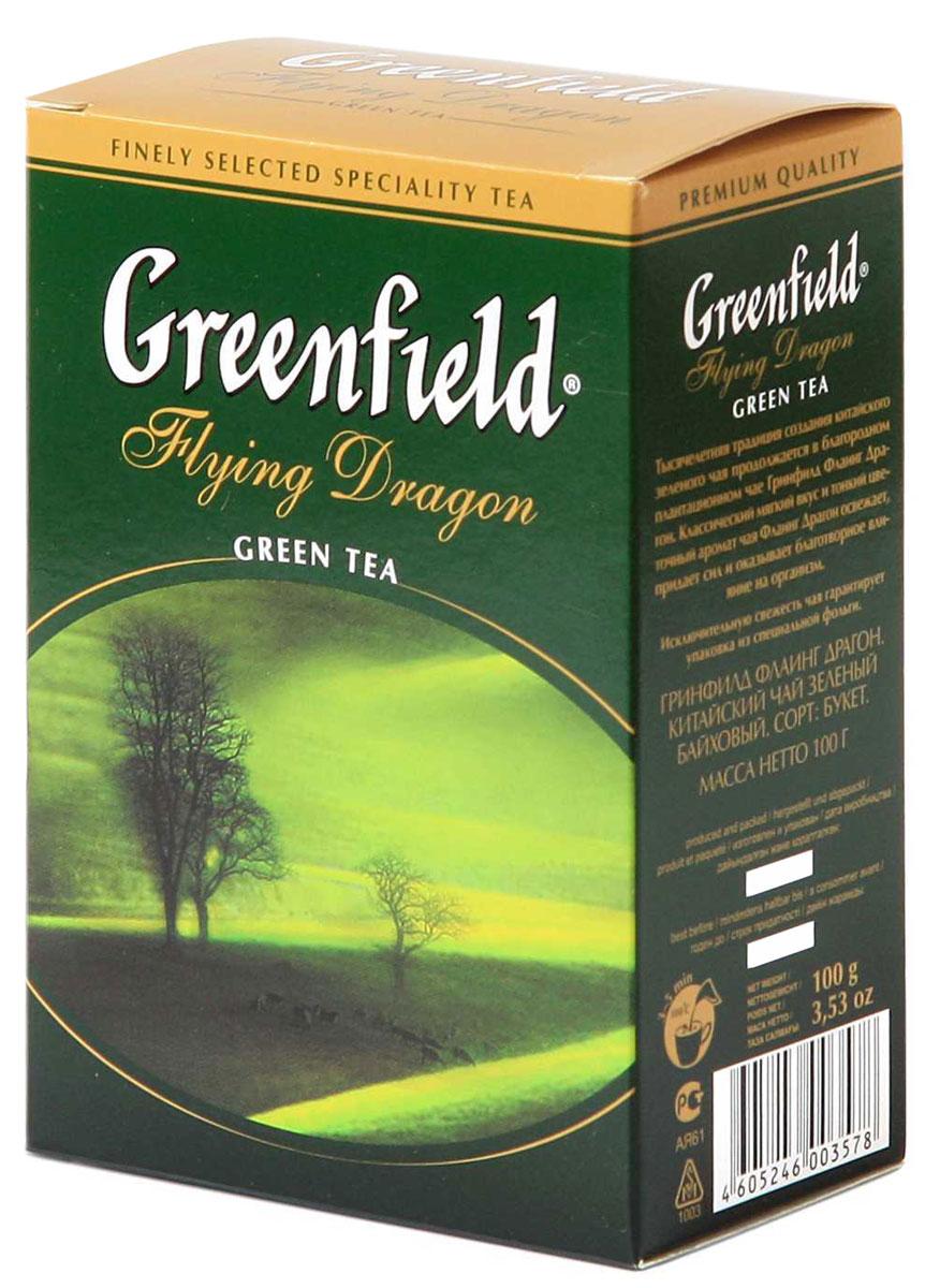 Greenfield Flying Dragon зеленый листовой чай, 100 г0120710Тысячелетняя традиция создания китайского зеленого чая продолжается в благородном плантационном чае Greenfield Flying Dragon. Классический мягкий вкус и тонкий цветочный аромат чая Greenfield Flying Dragon освежает, придает сил, и оказывает благотворное влияние на организм.