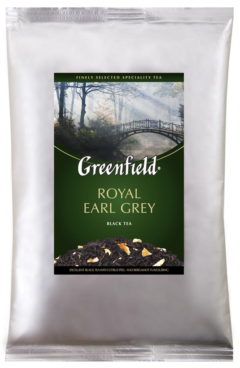 Greenfield Royal Earl Grey черный листовой чай, 250 г0120710Благородный, глубокий и насыщенный букет Greenfield Royal Earl Grey раскрывается волнующей ароматной волной, в которой причудливо переплетаются пряные ноты изысканного цейлонского чая, строгий классический аромат бергамота и тонкие оттенки цитрусовых.