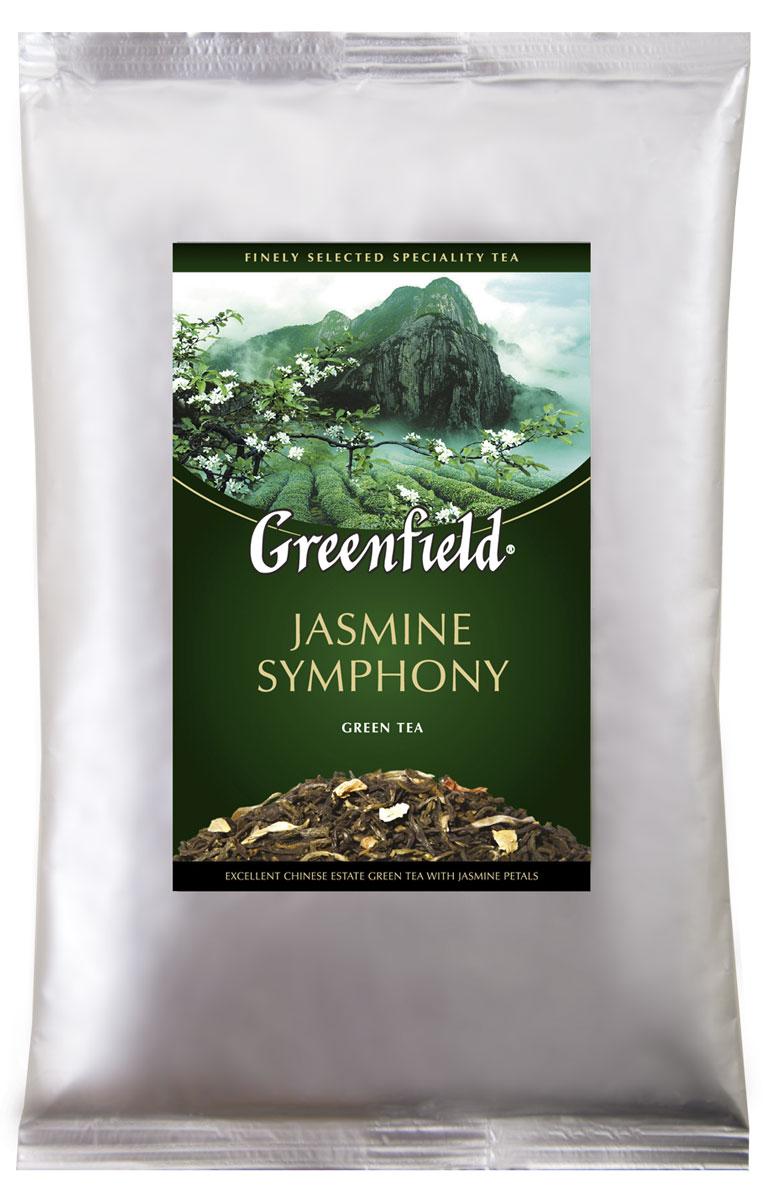 Greenfield Jasmine Symphony зеленый листовой чай, 250 г0120710Традиции изготовления жасминового чая, отшлифованные в течение столетий, воплощаются в утонченной гамме Greenfield Jasmine Symphony. Чайные листья, выращенные на знаменитых плантациях Гуанси, выдерживают с лепестками жасмина, чтобы они вобрали всю полноту нежного цветочного аромата и открыли изысканные вкусовые оттенки в композиции Greenfield Jasmine Symphony.
