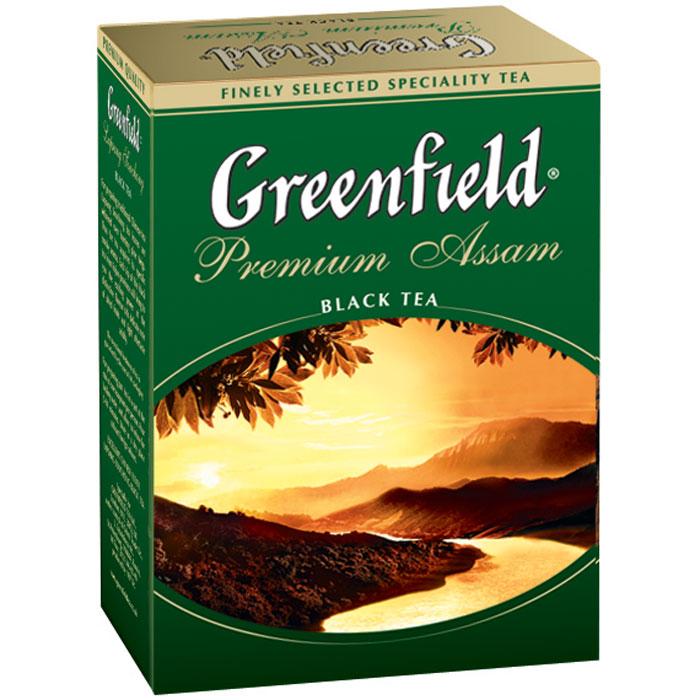 Greenfield Premium Assam черный листовой чай, 100 г0120710Выращенный на щедрых землях Ассама, где раскинулись знаменитые чайные плантации, окруженные драгоценным кольцом Гималайских гор, Greenfield Premium Assam открывает терпкий, пряный вкус и яркий, свежий аромат. Сияющий темно-бордовый цвет Greenfield Premium Assam - отражение завершенности и гармонии этого чая.