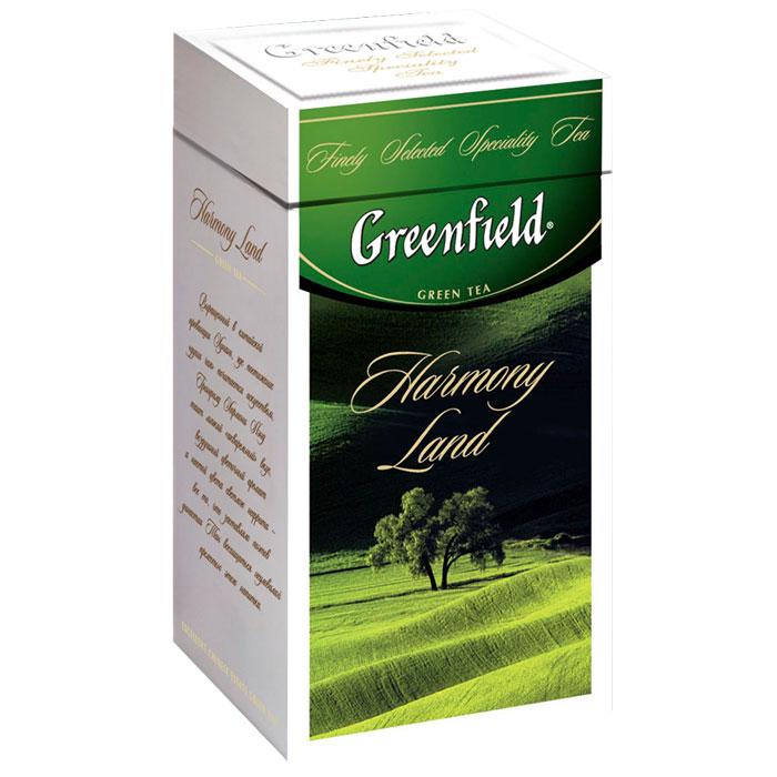 Greenfield Harmony Land зеленый листовой чай, 125 г0120710Выращенный в китайской провинции Хунань, где постижение души чая почитается искусством, Greenfield Harmony Land таит легкий акварельный вкус, воздушный цветочный аромат и настой цвета светлого нефрита - все то, что заставляло поэтов династии Тан восхищаться неуловимой прелестью этого напитка.