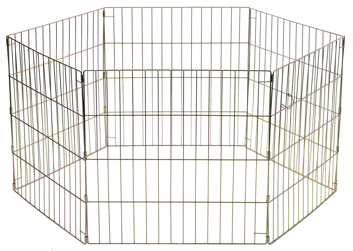 Вольер для животных  V.I.Pet , складной, шестисекционный, 60 см х 60 см - Будки для собак