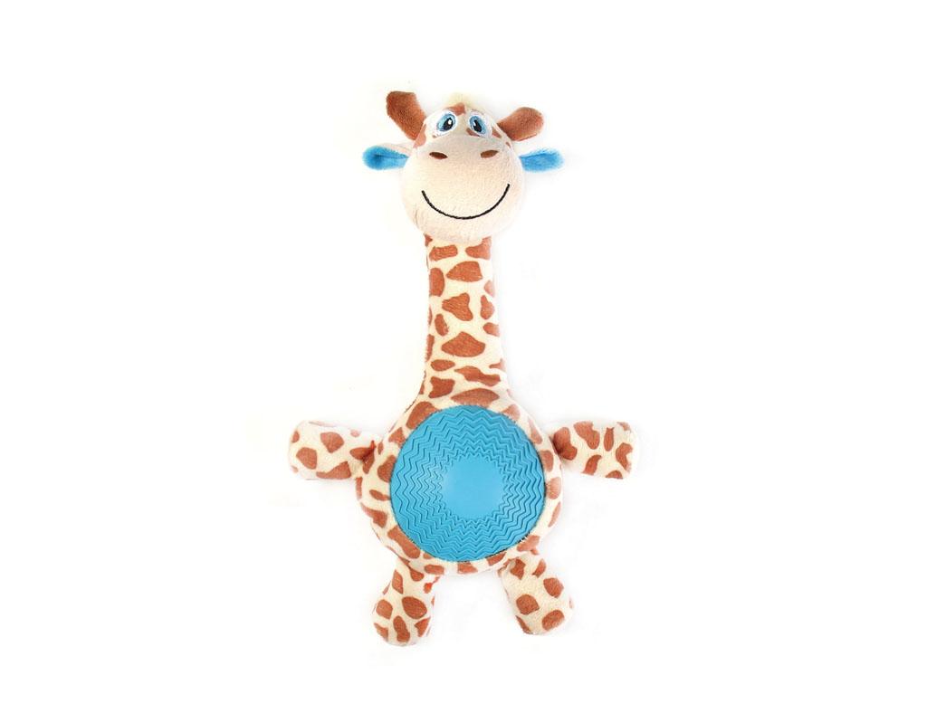 Игрушка для собак Aveva Жираф, с пищалкой0120710Игрушка для собак Aveva, выполненная в виде забавного Жирафа с пищалкой, изготовлена из резины с добавлением полиэстера. Такая игрушка позволит весело провести время вашему питомцу, а также поможет вам сохранить в целости личные вещи и предметы интерьера. Яркая игрушка привлечет внимание вашего любимца, не навредит здоровью, и займет его на долгое время. Высота игрушки: 21 см.