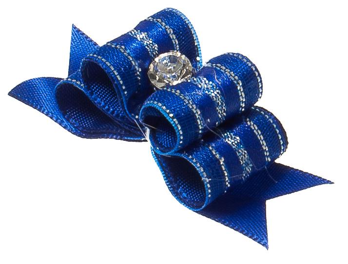 Бантик объемный V.I.Pet Ностальжи, тройной, цвет: синий, 4,5 см х 1,5 см, 2 шт0120710Объемный бантик V.I.Pet Ностальжи - это красивое и стильное украшение для собак мелких пород и других животных. Выполнен из тканей различных структур, плотности и фактуры и латексной резинки.