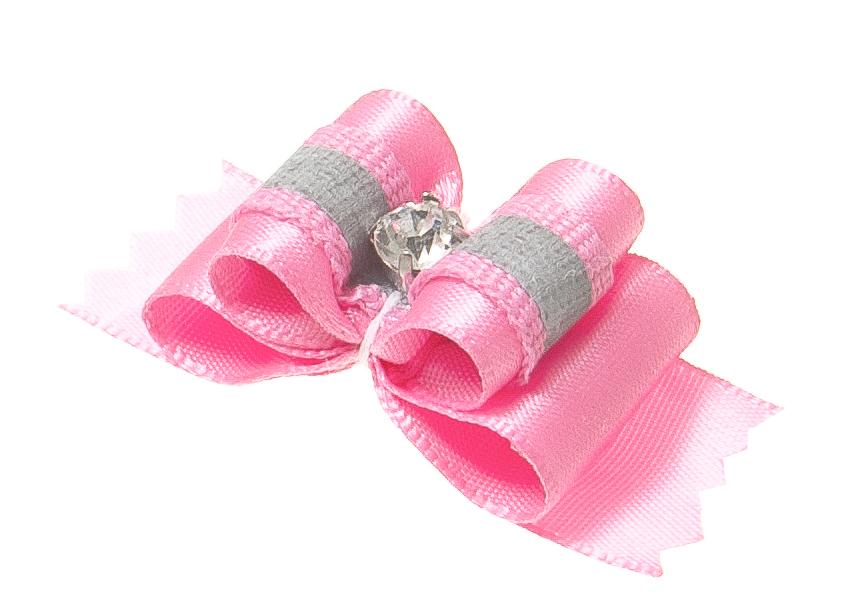 Бантик объемный V.I.Pet Ностальжи, светоотражающий, тройной, цвет: розовый, 4,5 см х 1,5 см, 2 шт18503Объемный бантик V.I.Pet Ностальжи - это красивое и стильное украшение для собак мелких пород и других животных. Выполнен из тканей различных структур, плотности и фактуры и латексной резинки. Бантик оснащен светоотражающим элементом.