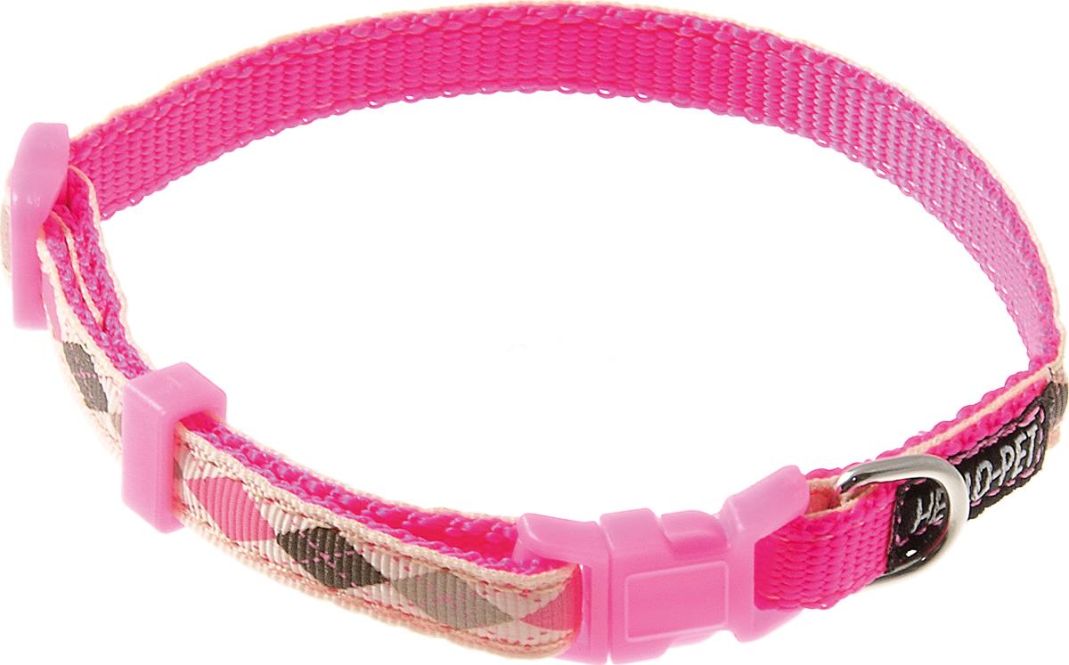 Ошейник для собак Hello Pet Ромбики, цвет: розовый, 10 мм, 23-35 см70-2821Ошейник для собак Hello Pet Ромбики изготовлен из прочных материалов и легко регулируется. Оснащен пластиковой застежкой (фастекс), которая обеспечивает безопасность вашего питомца - в случае резкого рывка ошейник не раскроется.