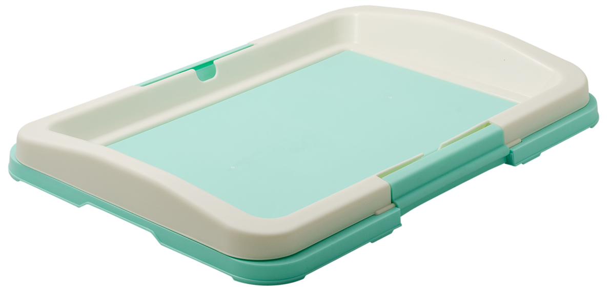 Туалет для собак V.I.Pet Японский стиль, цвет: зеленый, молочный, 48 х 35 х 6 см0120710Туалет для собак V.I.Pet Японский стиль, изготовленный из нетоксичного пластика, предназначен для собак и щенков. Гигиеническая пеленка помещается под рамку, которая удерживается боковыми фиксаторами. Туалет легко моется водой. Основание снабжено противоскользящими ножками.