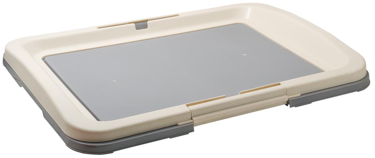 Туалет для собак V.I.Pet Японский стиль, цвет: серый, молочный, 63 х 48 х 6 см12171996Туалет для собак V.I.Pet Японский стиль, изготовленный из нетоксичного пластика, предназначен для собак и щенков. Гигиеническая пеленка помещается под решетку, которая удерживается боковыми фиксаторами. Туалет легко моется водой.Уважаемые клиенты!Рекомендуется использовать с пеленкой V.I.Pet 40 см х 60 см.Гигиеническая пеленка в комплект не входит.