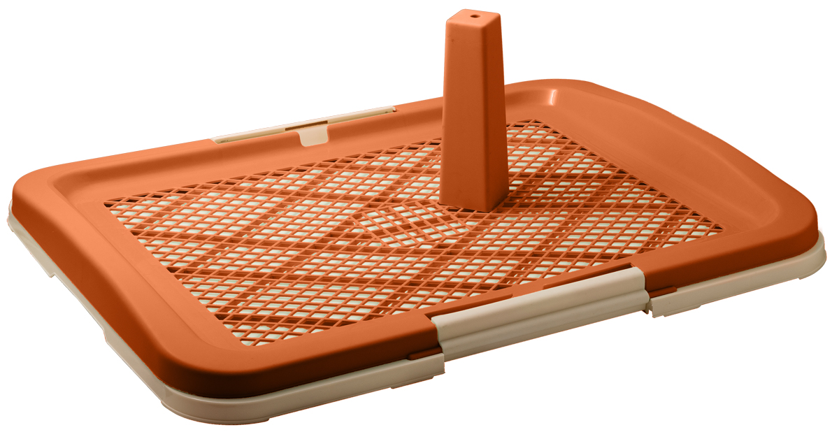 Туалет для собак V.I.Pet Японский стиль, со столбиком, цвет: коричневый, молочный, 63 см х 49 см х 6 см0120710Туалет для собак V.I.Pet Японский стиль, изготовленный из нетоксичного пластика, предназначен для собак и щенков. Съёмный столбик легко крепится на решетку и позволяет применять туалет независимо от пола собаки. Гигиеническая пелёнка помещается под решетку, которая удерживается боковыми фиксаторами.Туалет легко моется водой.