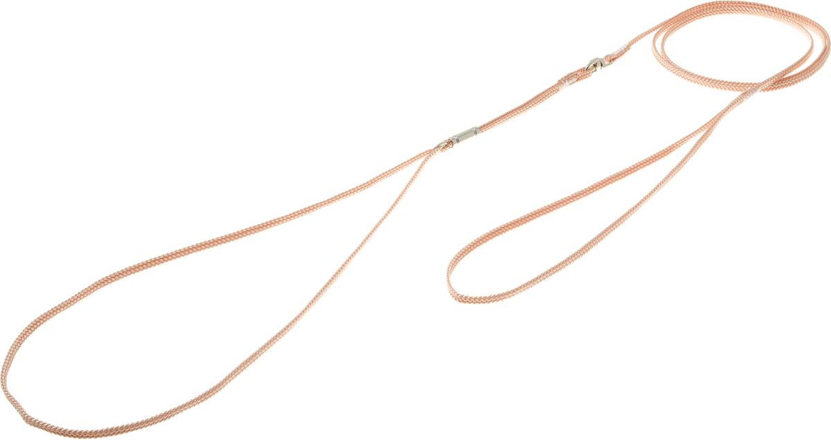 Ринговка V.I.Pet, с кольцом, цвет: бежевый. PEA-030120710Ринговка V.I.Pet - это специальный поводок, состоящий из петли с фиксатором и, собственно, поводка. Выполнена из нейлона, фурнитура - из высококачественной стали. Ринговка является самым распространенным видом амуниции для показа собаки на выставке или занятий рингдрессурой. Ринговку подбирают в тон окраса собаки, если собака пятнистая - то в тон преобладающего окраса или, наоборот, контрастную.