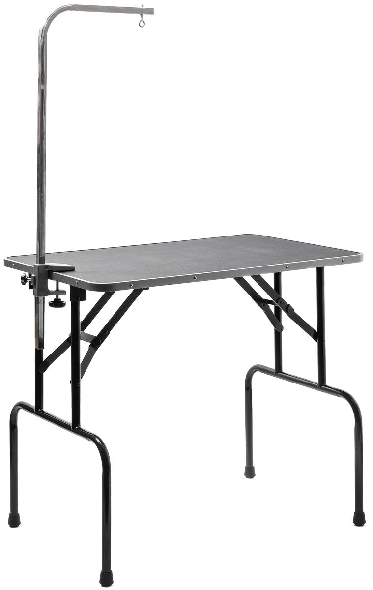 Стол для груминга V.I.Pet Профи, складной, с кронштейном, 92 см х 60 см х 83 смTP15436Складной стол для груминга V.I.Pet Профи предназначен для стрижки собак и других животных. Стол оснащен столешницей с противоскользящим покрытием, не регулируемыми ножками и кронштейном, к которому можно прикрепить петлю (не входит в комплект) для фиксации животного в определенном положении при проведении процедур по уходу за шерстью шеи и головы. Удобный столV.I.Pet Профи легко складывается для транспортировки в багажнике автомобиля. Размер столешницы: 92 см х 60 см. Размеры в сложенном состоянии: 95 см х 62 см х 10 см. Максимальный вес питомца: 50 кг. Вес стола: 11,6 кг.Товар сертифицирован.