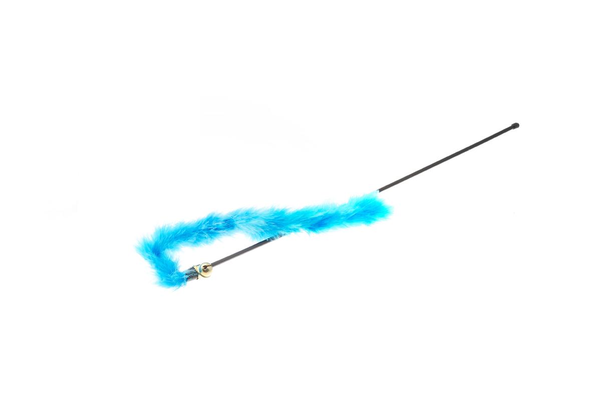 Дразнилка для кошек V.I.Pet, с хвостом и колокольчиком, цвет: голубой, длина 30 см0120710Занятная игрушка V.I.Pet заинтересует на долгое время и котят, и взрослых кошек. Питомцы будут с азартом играть с дразнилкой, активно двигаться, что способствует их физическому развитию. К тому же, дразнилка спасет ваши руки от царапин во время игры с кошкой.Длина дразнилки: 30 см.