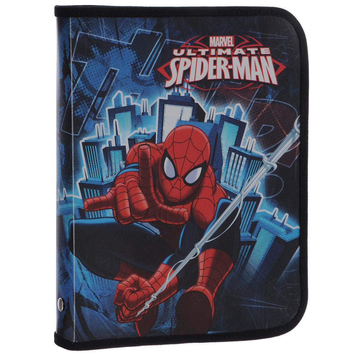 Папка для тетрадей Spider-man Classic, цвет: синий, красный. Формат А5FS-36052Папка для тетрадей Spider-man Classic- это удобный и функциональный инструмент. В папке одно вместительное отделение, которое идеально подойдет для хранения различных бумаг формата А5, а также школьных тетрадей и письменных принадлежностей. Папка оформлена красочными изображениями героев мультфильма Spider-man Classic. Папка изготовлена из прочного пластика. Края папки окантованы мягкой текстильной тесьмой. Надежная застежка-молния вокруг папки обеспечивает максимальный комфорт в использовании изделия, позволяя быстро открыть и закрыть папку. Папка практична в использовании и надежно сохранит ваши бумаги и сбережет их от повреждений, пыли и влаги.