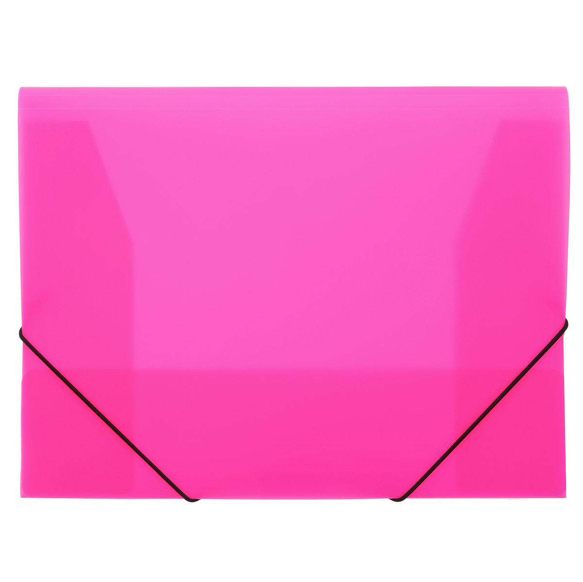 Папка на резинках Erich Krause, цвет: розовый. Формат А42AB4_12645Практичная папка на резинках Erich Krause пригодится в каждом офисе для хранения документов. Папка выполнена из пластика и надежно закрывается с помощью двух эластичных угловых резинок. Папка с тремя клапанами надежно сохраняет документы от повреждений и пыли. Вмещает большое количество документовБлагодаря использованию качественных материалов, безупречных технологий обработки и высокой функциональности, эти стильные изделия выдержат даже самый напряженный рабочий день.