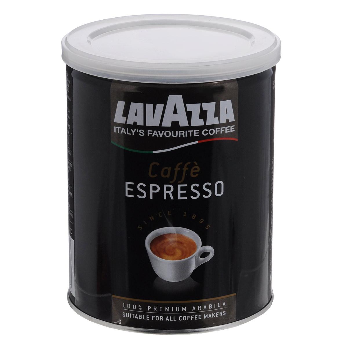 Lavazza Caffe Espresso кофе молотый, 250 г (ж/б)101246Молотый кофе средней обжарки Lavazza Caffe Espresso - смесь арабики Центральной Америки и Африки - обладает крепким,насыщенным вкусом и приятным ароматом. Отлично подходит для варки в турке и приготовления в кофемашине.