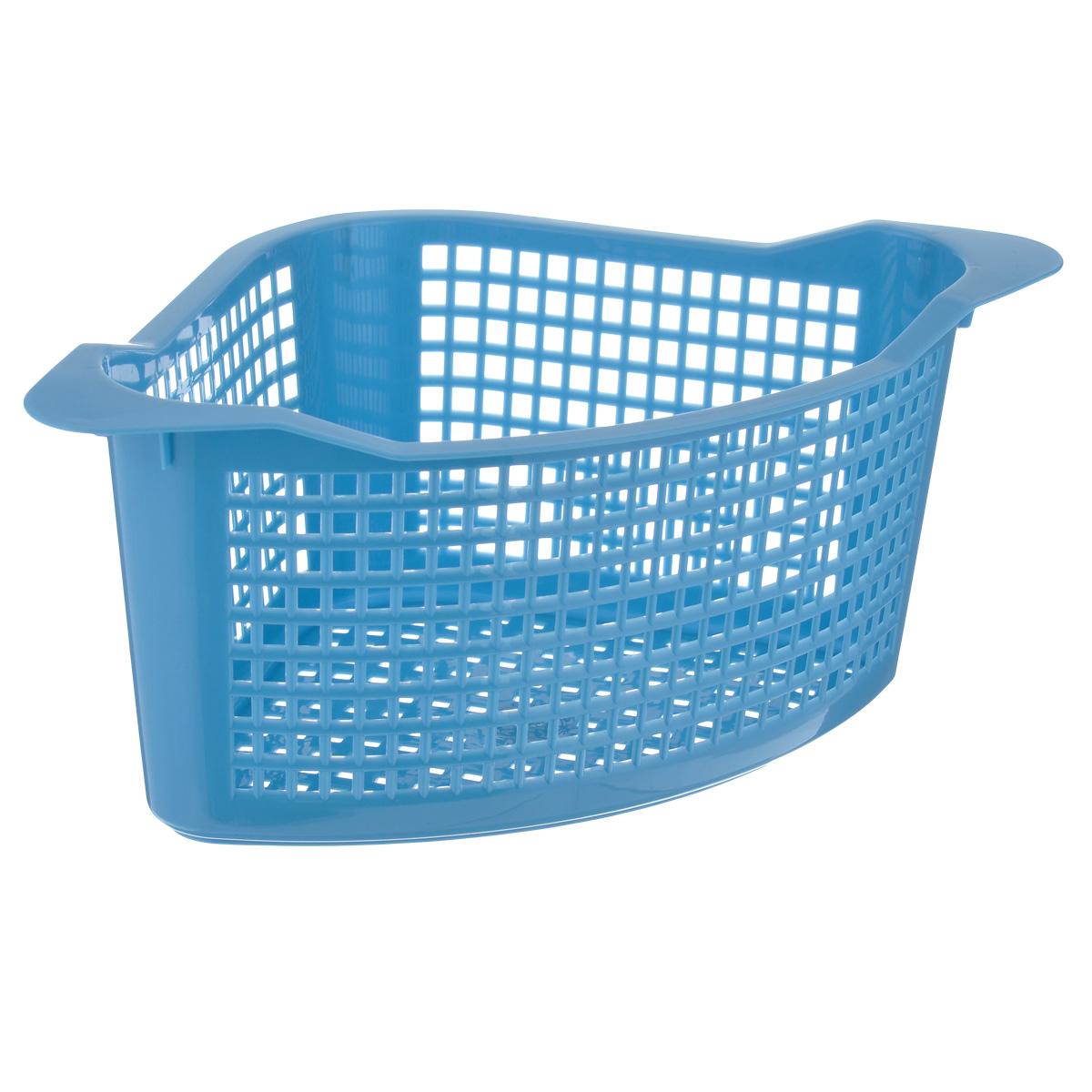 Корзина универсальная Econova, цвет: голубой, 29 см х 18,5 см х 12,5 смS03301004Угловая корзина Econova выполнена из пластика и оформлена по всей поверхности перфорацией. Изделие имеет жесткую кромку. Корзина предназначена для хранения мелочей в ванной, на кухне, на даче или в гараже. Позволяет хранить мелкие вещи, исключая возможность их потери.