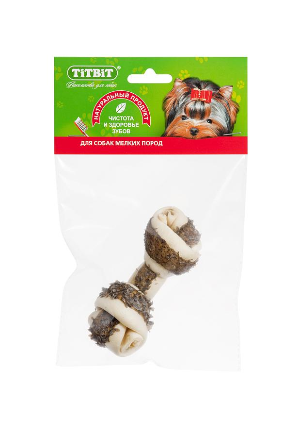 Лакомство для собак Titbit, кость узловая, с рубцом говяжьим0120710Высушенная говяжья кожа, свернутая в форме кости размером 110-130 мм, обогащенная прослойкой из высушенного говяжьего рубца, ворсинки которого содержат полезные ферменты и витамины груполипропиленовый пакеты В. Благодаря большому содержанию аминокислот и коллагена положительно воздействует на состояние кожи и шерсти собаки, а такжеобеспечивает поступление в организм незаменимых компонентов для роста и поддержания качества хрящевой ткани суставов собак. Способствует укреплению дёсен, удалениюзубного налёта и профилактике образования зубного камня. Вкус: кожа говяжьяСостав: Высушенные говяжья кожа и рубец.Условия хранения: хранить в сухом прохладном месте. Товар сертифицирован.