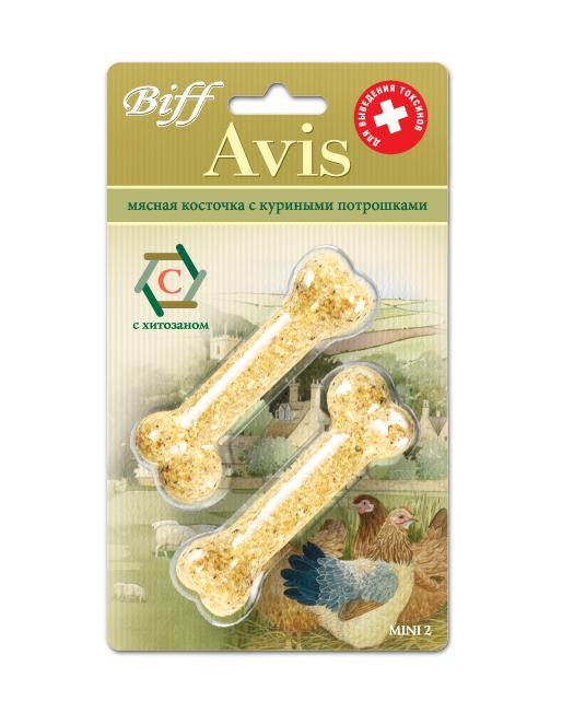 Лакомство для собак Biff Avis, мясная косточка с куриными потрошками, 2 шт0120710Мясная косточка с куриными потрошками и хитозаном - идеальное лакомство для выведения токсинов из организма Вашего питомца, а также является источником легкоусвояемых белков, витаминов, минеральных веществ. Хитозан - натуральное биологически активное вещество, регулирующее большинство процессов в организме, он быстро впитывает и выводит из организма любые токсичные вещества, а главное, обладает способностью подавлять раковые клетки.Состав: Кожа говяжья - 35%, потроха куриные - 15%, кукуруза - 13%, желудок говяжий - 11%, гречка - 10%, мясокостная мука - 7%, кишки говяжьи - 6%, хитозан - 3%.Условия хранения: хранить в сухом прохладном месте.Товар сертифицирован.