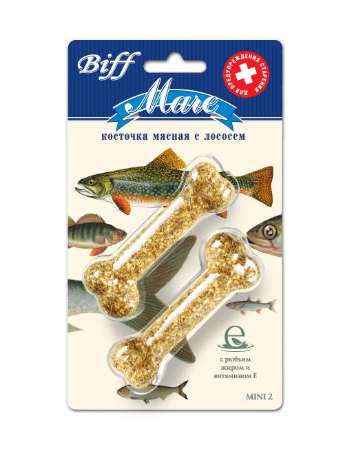 Лакомство для собак Biff Mare, мясная косточка с лососем, 2 шт0120710Мясная косточка на основе лосося - идеальное лакомство для собак, которое способствует нормальному состоянию клеток кожного покрова и слизистых оболочек, регулирует рост костей, обмен кальция и фосфора, предупреждает старение. Активные компоненты рыбьего жира, такие, как витамин Е, являются мощными антиоксидантами. Они снижают активность свободных радикалов, что обеспечивает замедление процессов старения, обезвреживание продуктов внутриклеточного распада, поддержание тонуса сердца и эластичностистенок сосудов.Состав: кожа говяжья – 27%, рыба (лосось) – 20%, кукуруза – 16%, рис – 9%, желудок говяжий -8%, мясокостная мука- 7%, петрушка – 5%, кишки говяжьи – 4%, морковь – 4%.Товар сертифицирован.