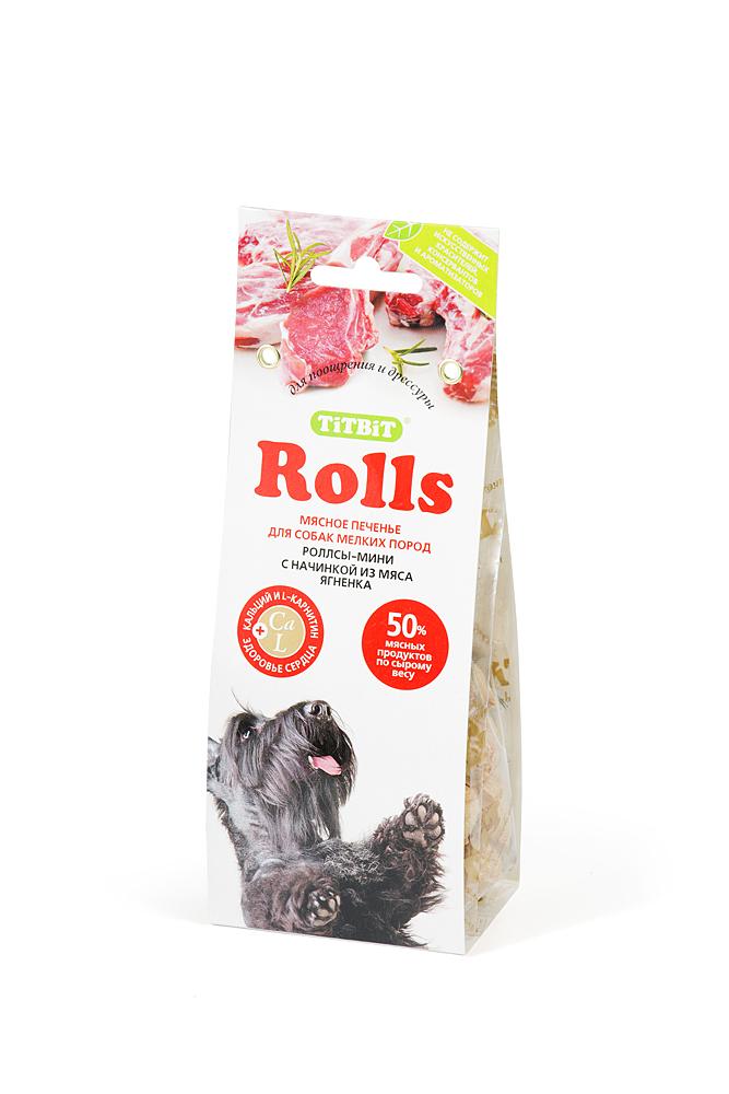 Лакомство для собак Titbit Rolls, печенье с начинкой из мяса ягненка, 100 г1864Мясо ягненка – это источник гипоаллергенного, высококачественного протеина животного происхождения, который легко усваивается и необходим при заживлении ран и переломах костей. Аромат баранины очень нравится собакам, поэтому лакомство удобно применять для дрессуры. Вещества, такие как цинк, витамин В12 и железо (2,6 мг/100г), благотворно влияют на умственную деятельность животного. В мясе ягненка содержатся так же витамин РР(5,4 мг/100г), который участвует в усвоении белков, жиров и углеводов, поступающих извне. Состав: мука 55%, мясо ягненка14%, злаки11%, зародыш пшеницы9%, масло растительное7%, патока3%, сухое молоко1%.