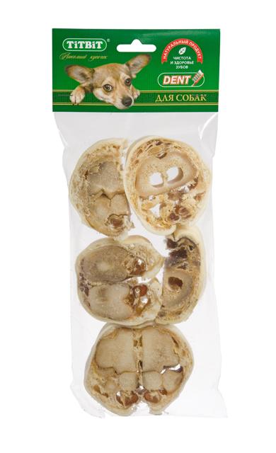 Лакомство для собак Titbit Крутон говяжий XL0120710Высушенная говяжья голень, нарезанная поперек кости. Изделие содержит кожу, костную ткань, жир,соединительную ткань и небольшие прослойки мышечной ткани. Обеспечивают дополнительное поступление в организм глюкозамина и хондроитина - составных элементов для роста, развития и поддержания в норме суставов собак.Массирует десны и укрепляет жевательную мускулатуру, очищает зубной налет и предотвращает возникновение зубного камня.Прекрасная игрушка, сохраняющая в целости предметы интерьера и личные вещи.Изделие содержиттрубчатую кость ине предназначено для полного поедания. Как только собака съела футляр из кожи, сухожилий и мышц – необходимо заменить лакомство на новое. Состав: Высушенная говяжья голень.