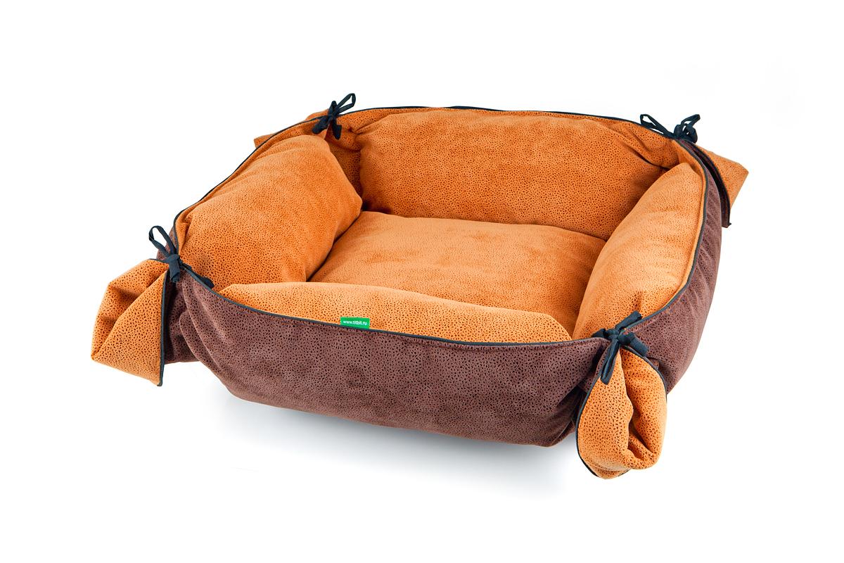 Лежак-трансформер для собак Titbit, цвет: коричневый, 100 см х 100 смL002/B_леопард_светло-коричневый, бежевыйЛежак-трансформер Пушок станет комфортным и любимым местом вашего питомца. Лежак выполнен из мягкого, приятного на ощупь материала (флока). Оригинальная конструкция трансформера превращает лежак в просторное спальное место. Стильная расцветка впишется в любой интерьер. Высококачественная мебельная ткань приятной фактуры обладает высокой износоустойчивостью.