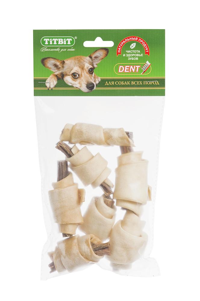 Лакомство для собак Titbit, рогалики из кожи с начинкой из говяжьих кишок, 7 шт0120710Лакомство для собак Titbit - высушенная говяжья кожа с начинкой из говяжьих кишок. Благодаря большому содержанию аминокислот и коллагена положительно воздействует на хрящевую ткань, состояние кожи и шерсти собаки. Кишки возбуждают аппетит и придают лакомству особый вкус, который так нравится собаке.Состав: высушенные говяжья кожа, кишки говяжьи.Товар сертифицирован.