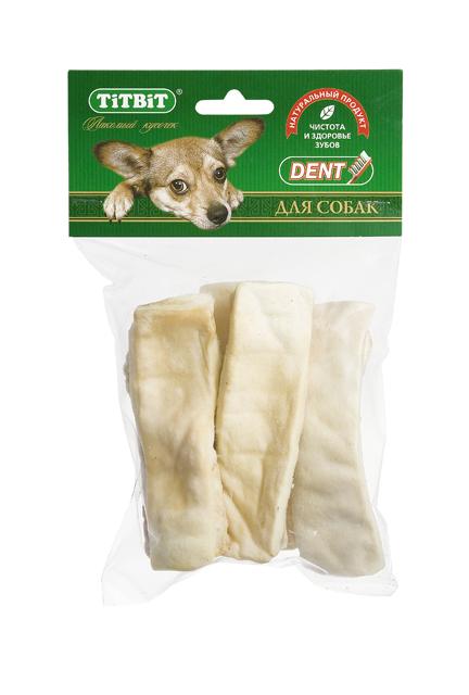 Лакомство для собак Titbit, крекер говяжий, 90 г12171996Лакомство для собак Titbit выполнено из высушенной говяжьей кожи, свернутой в форме крекеров. Благодаря большому содержанию аминокислот и коллагена положительно воздействует на хрящевую ткань, состояние кожи и шерсти собаки. Благодаря волокнистой структуре являются своеобразной зубной щеткой, способствующей укреплению десен, удалению зубного налета и профилактике образования зубного камня. Прекрасное лакомство для всех собак с 1,5-2 месячного возраста.Состав: высушенная говяжья кожаТовар сертифицирован.