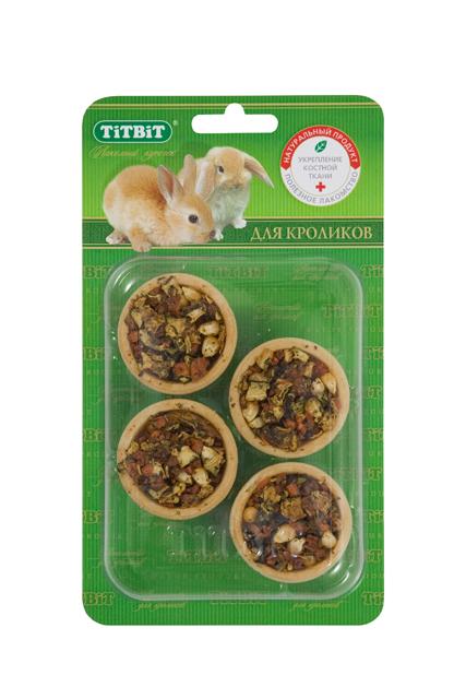 Лакомство для кроликов Titbit, тарталетки с кабачком и морковью, 4 шт0120710Тарталетки представляют собой корзиночки из хрустящего пресного теста с лакомой и полезной для грызунов начинкой. Обогащают ежедневный рацион витаминами, макро – и микроэлементами. Продукт не содержит искусственных красителей и ароматизаторов. Входящие в состав продукта кабачки содержат много полезных микроэлементов, быстро утоляют голод, легко усваиваются организмом грызуна. Морковь регулирует водный и водно-солевой обмен, стимулирует регенеративные процессы в организме. Морковь очень богата витаминами груполипропиленовый пакеты В, содержит важнейшие для организма животного никотиновую и фолиевую кислоты.Состав: Мука 1 сорта, кабачок, морковь, тыква, яблоко, кукуруза, крапива. Полезные вещества: сбалансированный витаминно-минеральный комплекс.