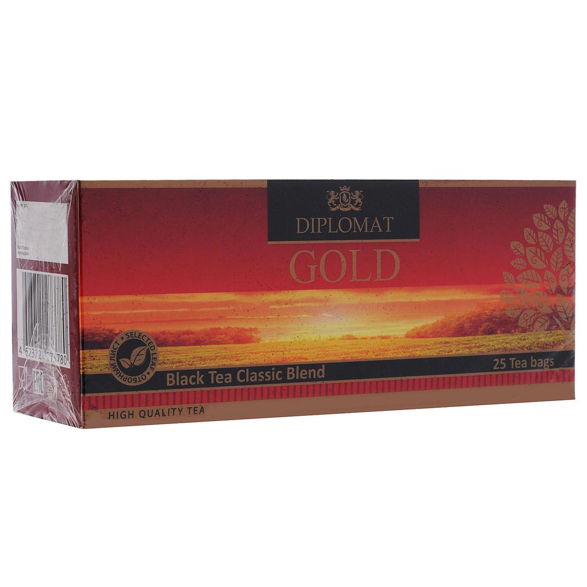 Diplomat Black Tea Classic Blend черный чай в пакетиках, 25 шт.