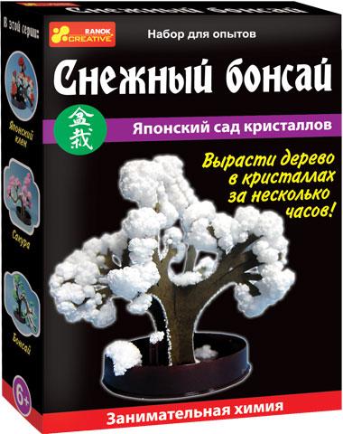Научная игра, с помощью которой ребенок сможет вырастить сад деревьев с кристаллами. Если следовать инструкции, то всего за несколько часов на обычных картонных деревьях распустятся прекрасные цветы и листья из кристаллов.
