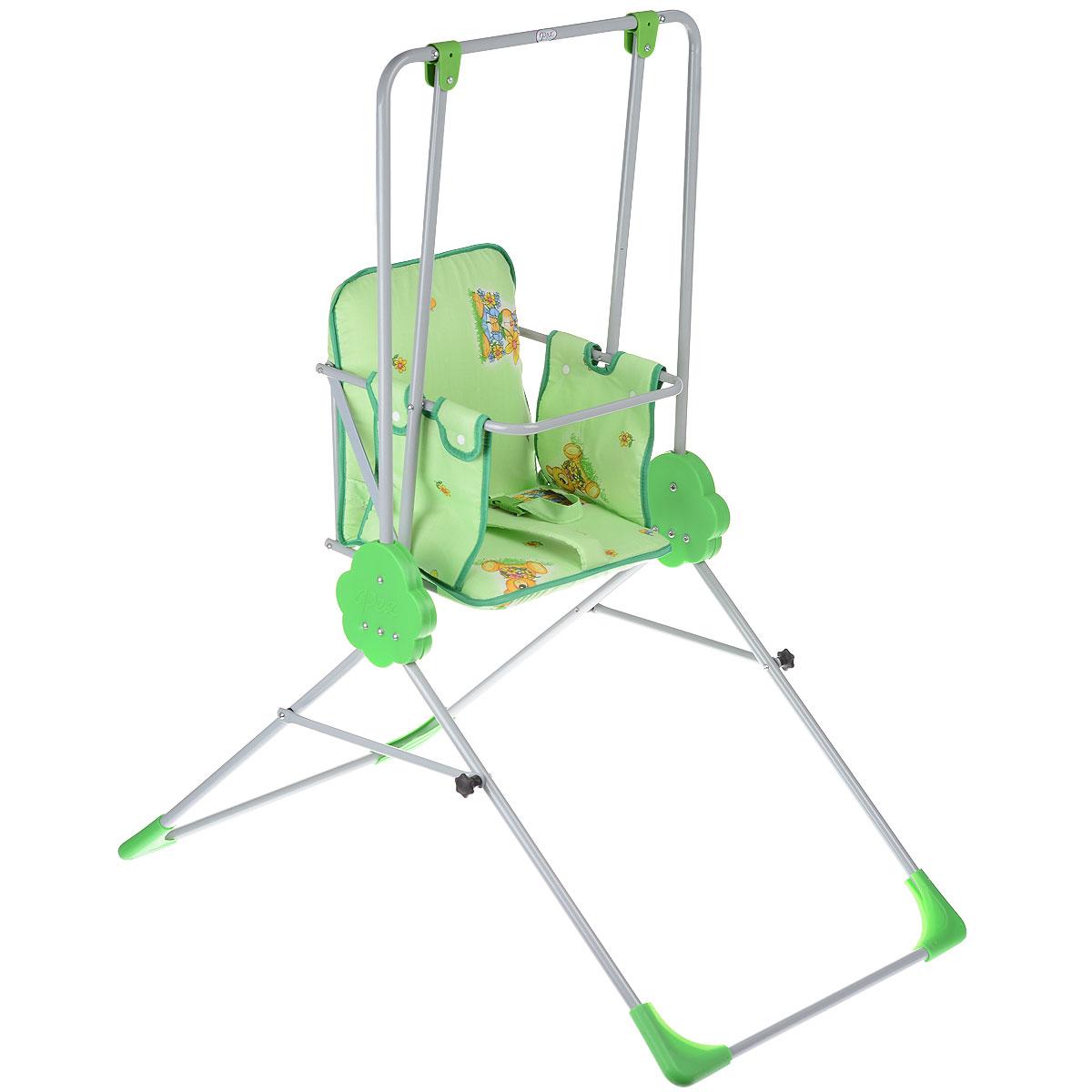 Качели детские Фея Малыш, цвет: зеленый детские качели в квартиру