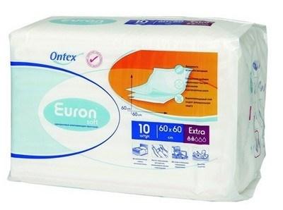 Впитывающие простыни  Euron Soft Extra , 60 см х 60 см, 10 шт -  Подгузники и пеленки