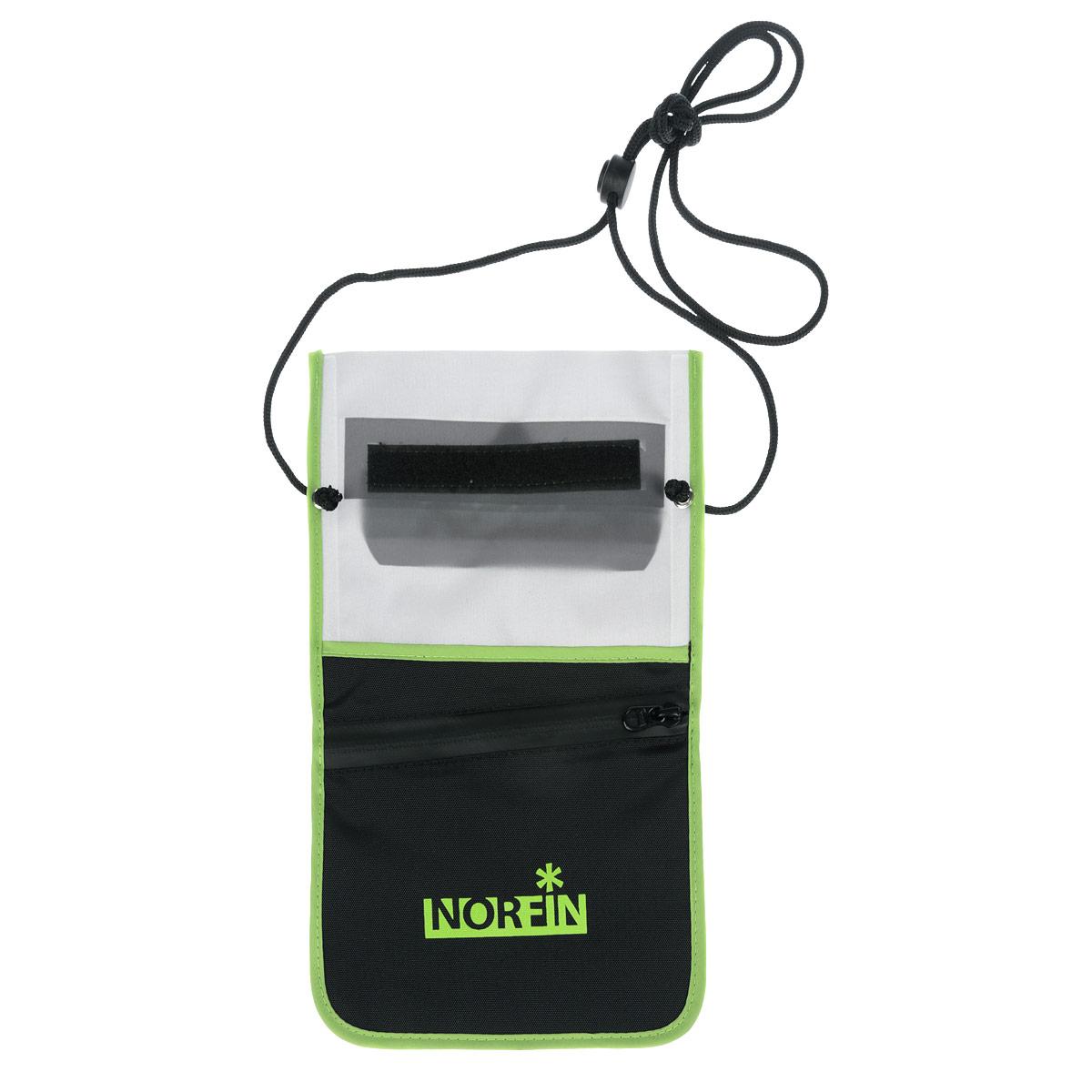 Гермочехол Norfin Dry Case 03, цвет: серый, черный, 28 см х 17 см37461Гермочехол нагрудный Norfin Dry Case 03 предназначен для защиты небольших предметов от воды: документы, телефон, планшет-мини. Особенности:Идеален для защиты планшетов-мини с размером диагонали до 7,9.Пленка гермочехла чувствительна к теплу рук, можно пользоваться планшетом не вынимая его из чехла.Два кармана на задней стороне сумки, один из которых с водонепроницаемой молнией.