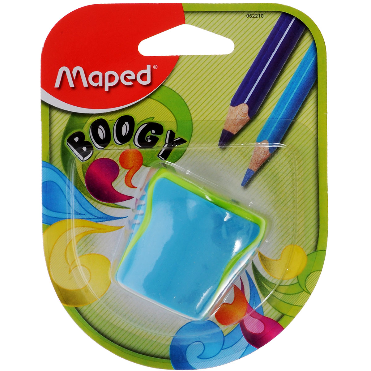 Точилка Maped Boogy, с 2 отверстиями, цвет: голубой62210_голубойТочилка  Boogy с двумя отверстиями выполнена из ударопрочного пластика. Полупрозрачный контейнер для сбора стружки повышенной вместимости позволяет визуально контролировать уровень заполнения и вовремя производить очистку.