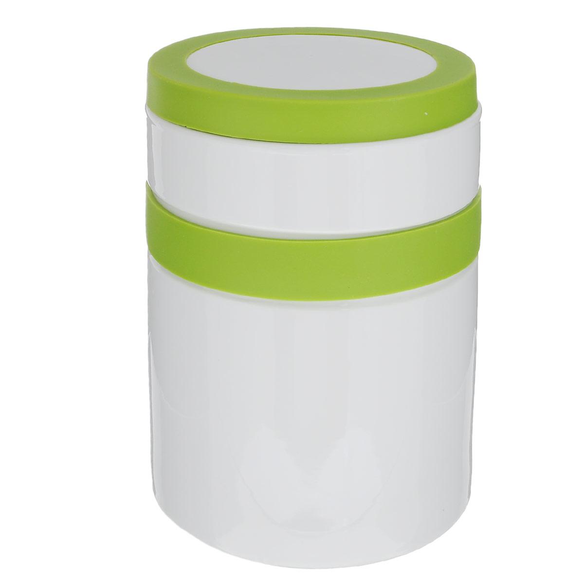 Банка для сыпучих продуктов House & Holder, цвет: салатовый, 0,825 лVT-1520(SR)Банка для сыпучих продуктов House & Holder изготовлена из прочной керамики и оснащена плотно закрывающейся крышкой с силиконовой вставкой. Благодаря этому, внутри сохраняется герметичность, и продукты дольше остаются свежими. Изделие предназначено для хранения различных сыпучих продуктов: круп, чая, сахара, орехов, специй и другого. Функциональная и вместительная, такая банка станет незаменимым аксессуаром на любой кухне.