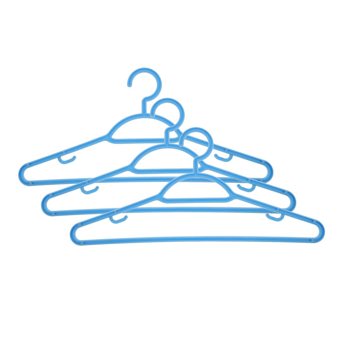 Набор вешалок Econova, с перекладиной, с крючками, цвет: голубой, размер 48, 3 шт. С12356С12356Набор Econova выполненный из прочного пластика, состоит из 3 вешалок.Каждое изделие оснащено перекладиной и боковыми крючками. Вешалка - это незаменимая вещь для того, чтобы ваша одежда всегда оставалась в хорошем состоянии.Комплектация: 3 шт.Размер одежды: 48.