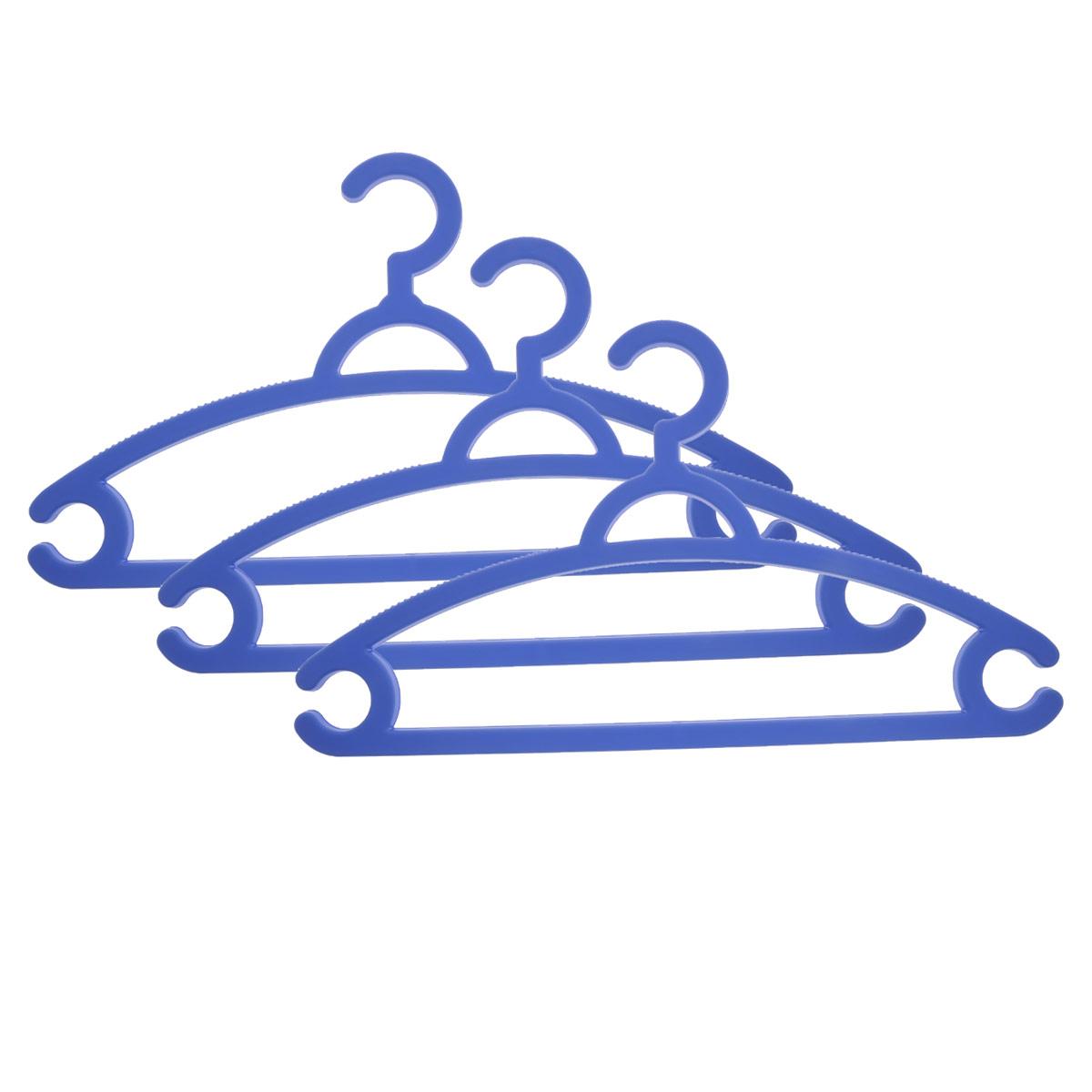 Набор вешалок для легкой одежды М-пластика, цвет: голубой, 3 штV30 AC DCНабор М-пластика, выполненный из легкого и прочного пластика, состоит из трех вешалок.Изделия оснащены перекладинами и двумя крючками.Вешалка - это незаменимая вещь для того, чтобы ваша одежда всегда оставалась в хорошем состоянии.Комплектация: 3 шт.
