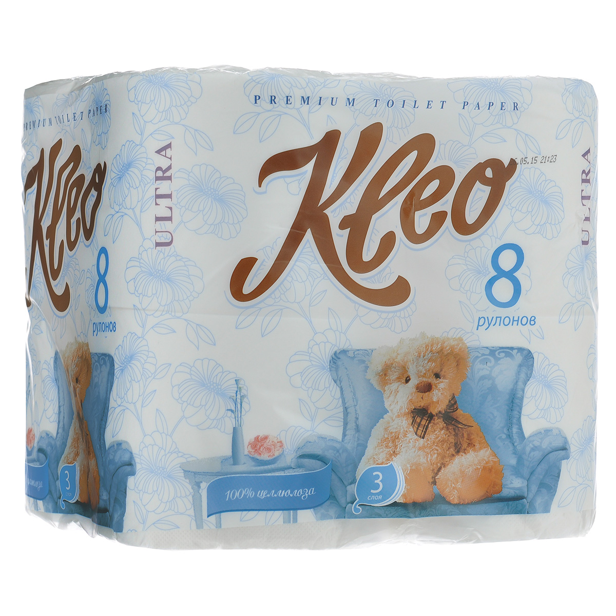 Туалетная бумага Мягкий знак Kleo Ultra, трехслойная, цвет: белый, 8 рулонов туалетная бумага анекдоты ч 8 мини 815605