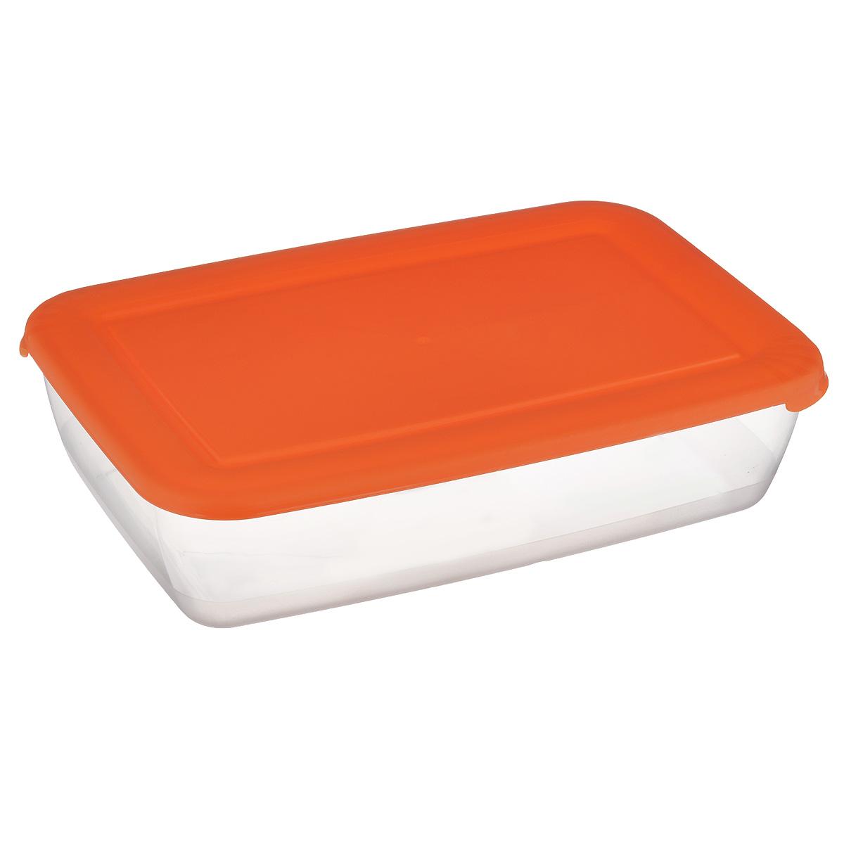 Контейнер Полимербыт Лайт, цвет: оранжевый, 3 лС554 оранжевыйКонтейнер Лайт изготовлен из высококачественного пищевого прозрачного пластика и оснащен крышкой. Подходит для использования в микроволновой печи без крышки (до +120°С), для заморозки при минимальной температуре -40°С. Можно мыть в посудомоечной машине.