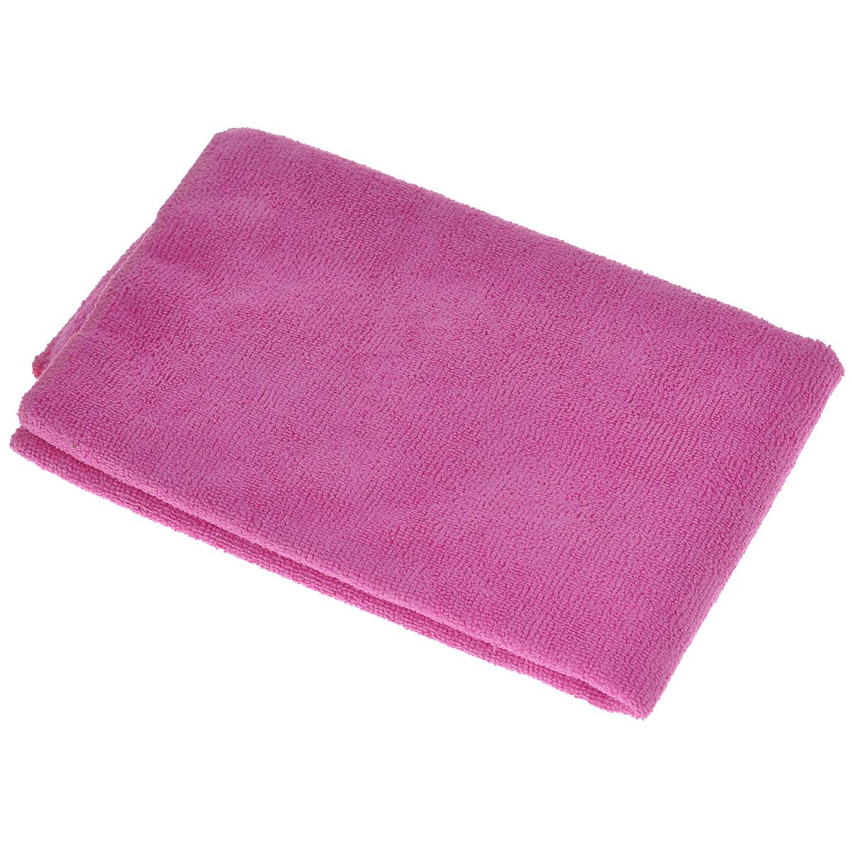 Тряпка для пола Eva, цвет: розовый, 50 см х 60 см234100Тряпка для пола Eva выполнена из микрофибры (полиэстера и полиамида). Благодаря микроструктуре волокон она проникает в поры материалов, а поэтому может удалять загрязнения без применения химических средств. Тряпка удерживает влагу, не оставляет разводов и ворса.