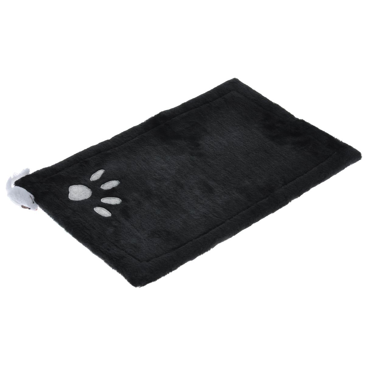 Когтеточка-коврик для кошек I.P.T.S., 0405155цвет: черный, 48 см х 31 см16462Когтеточка для кошек I.P.T.S. выполнена из сизаля в виде коврика, по краям обитого плюшем. Коврик декорирован следом от лапки и белой мышкой.Когтеточка - один из самых необходимых аксессуаров для кошки. Для приучения к ней можно натереть ее сухой валерьянкой или кошачьей мятой.Коврик-когтеточка для кошек I.P.T.S. станет комфортным и любимым местом вашего питомца.