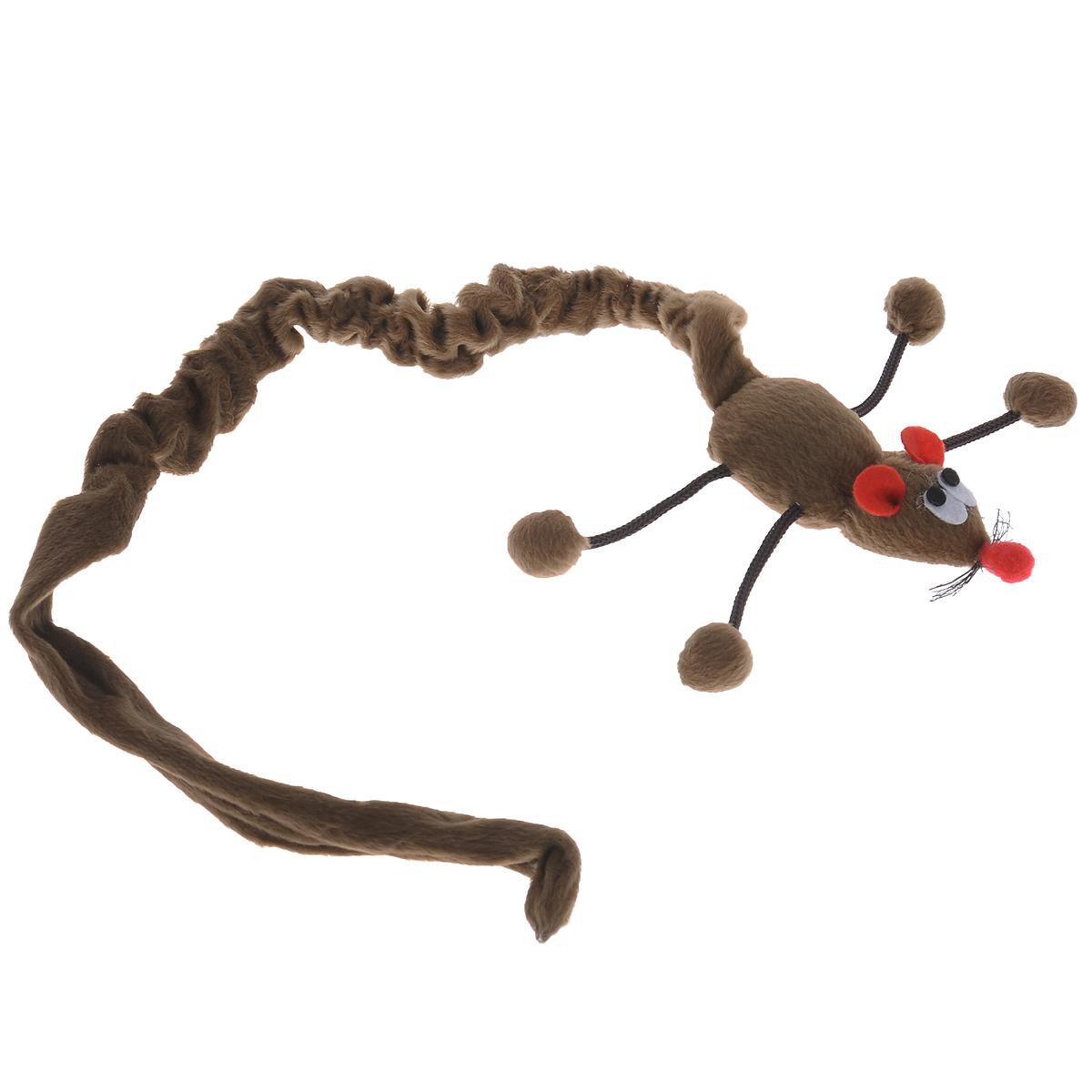 Игрушка для кошек I.P.T.S. Дразнилка-мышь, подвесная, цвет: коричневый, длина 61-86 см0120710Игрушка I.P.T.S. Дразнилка-мышь, изготовленная из текстиля, выполнена в виде удочки с подвесной плюшевой мышкой и предназначена для активных игр с кошкой.Такая игрушка не навредит здоровью вашего питомца и увлечет его на долгое время.Длина: 61-86 см.