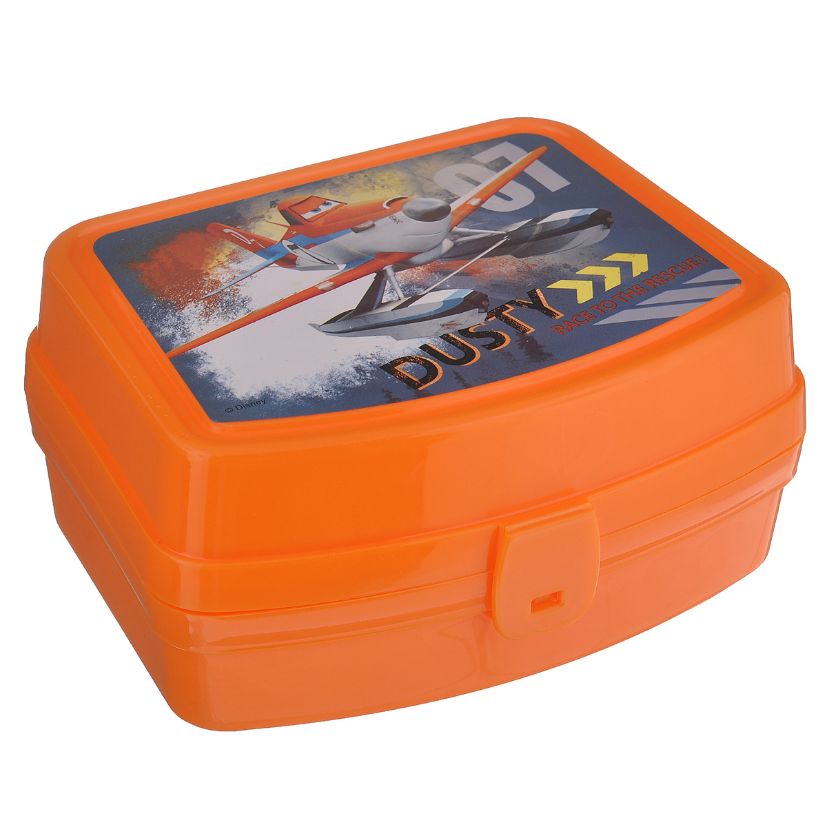 Контейнер Альтернатива Самолеты. Дасти, цвет: оранжевый, 17 х 14 х 8 см41619Контейнер Альтернатива Самолеты. Дасти выполнен из плотного пластика и имеет удобную крышку на пластиковой защелке.Этот контейнер очень универсален. В таком контейнере удобно хранить разнообразные продукты, брать с собой на работу, учебу. Он обеспечивает герметичность и надежность хранения продуктов. Также контейнер можно использовать хранения карандашей, ручек, фломастеров. Веселый дизайн контейнера порадует вашего ребенка.